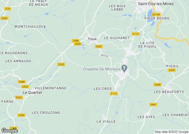 Map for Auvergne, Puy-de-Dôme, Youx