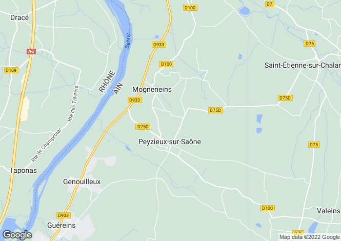Map for mogneneins, Ain, France