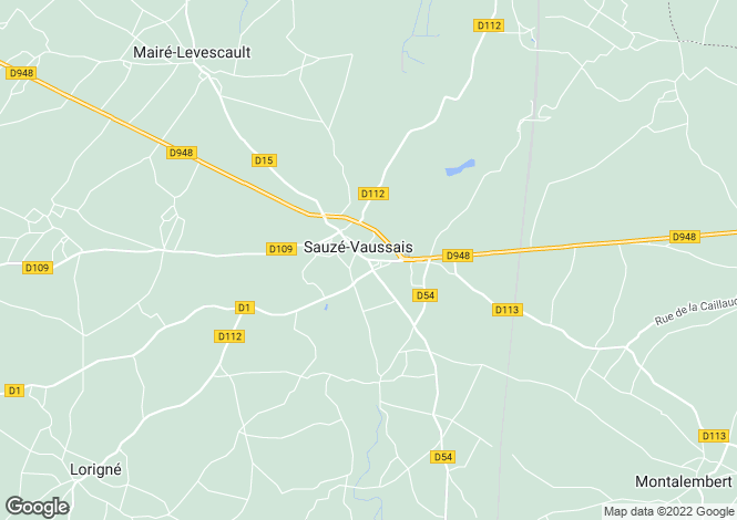Map for Ruffec, Poitou-Charentes, 79190, France