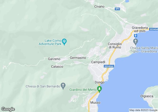 Map for Germasino, Como