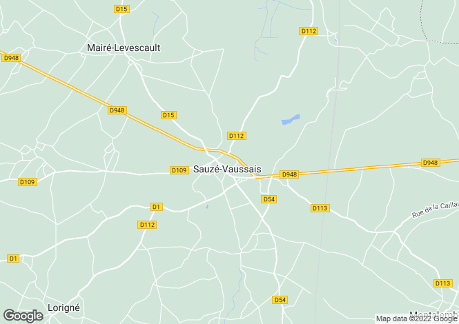 Map for sauze-vaussais, Deux-Sèvres, France