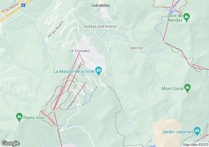 Map for Chalet Elixir, En Passé de Larzine, La Tzoumaz