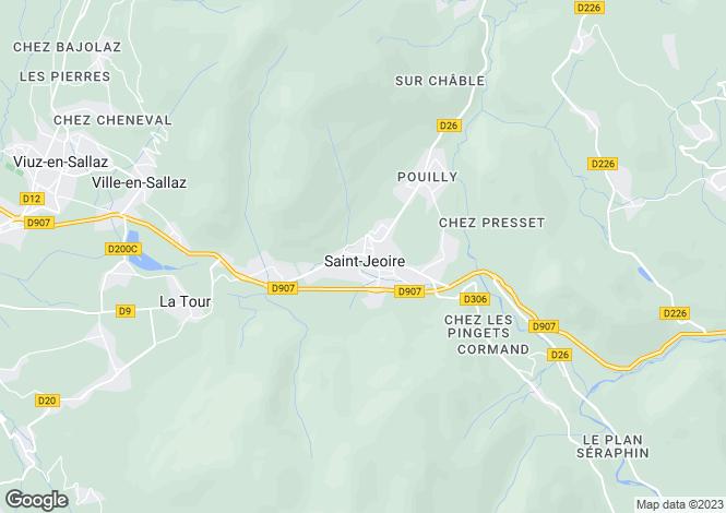 Map for Saint Jeoire, Haute Savoie, France, 74420