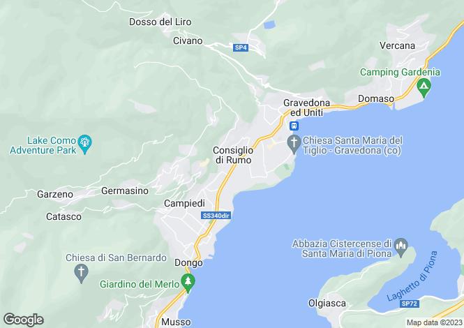 Map for Gravedona, Como, Lombardy