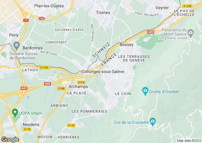 Map for France - Rhone Alps, Haute-Savoie, Collonges-sous-Salève