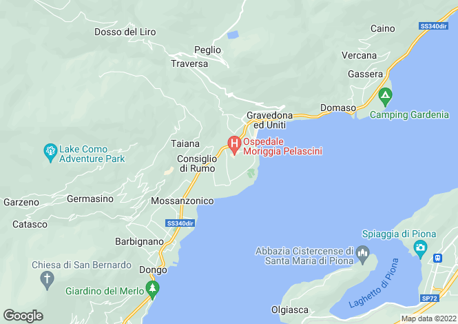 Map for Gravedona, Italy