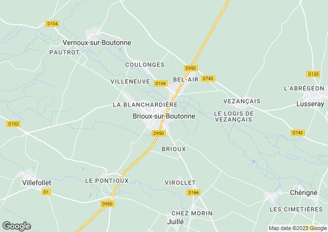 Map for Brioux-Sur-Boutonne, Poitou-Charentes, 79170, France