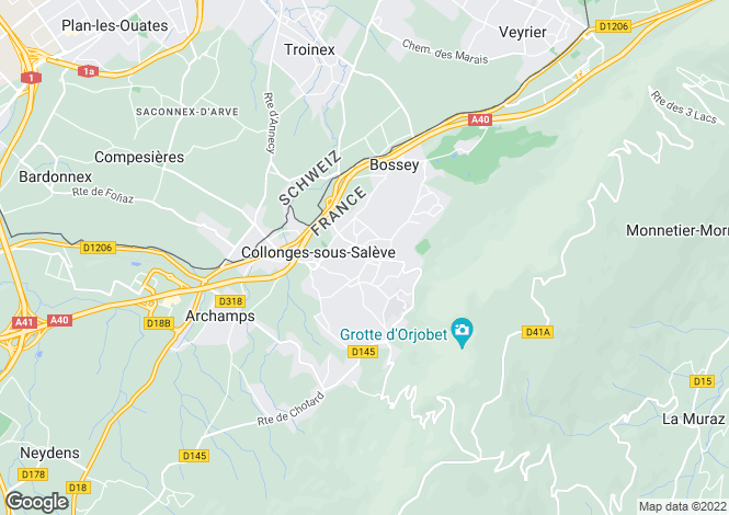Map for Collonges Sous Saleve,France