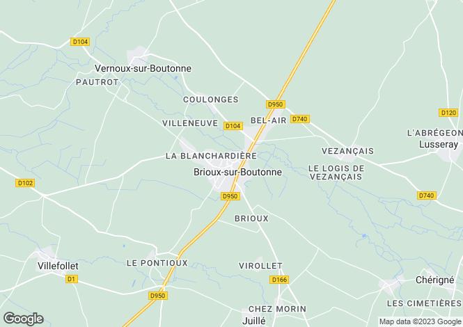 Map for Brioux sur Boutonne, Deux Sevres