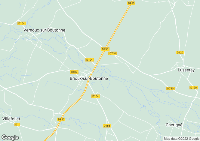 Map for brioux-sur-boutonne, Charente-Maritime, France