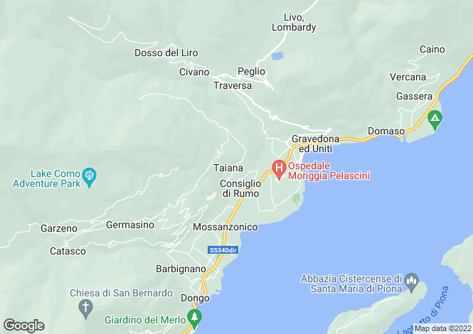 Map for Gravedona, Italy