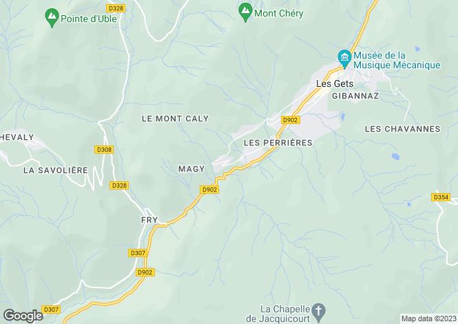 Map for 4 Bedroom Chalet, Les Gets (LG 1142)