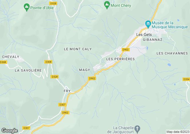 Map for Rhone Alps, Haute-Savoie, Les Gets