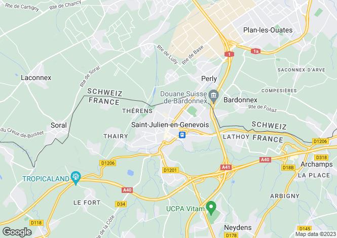Map for Saint-Julien-en-Genevois, 74160, France