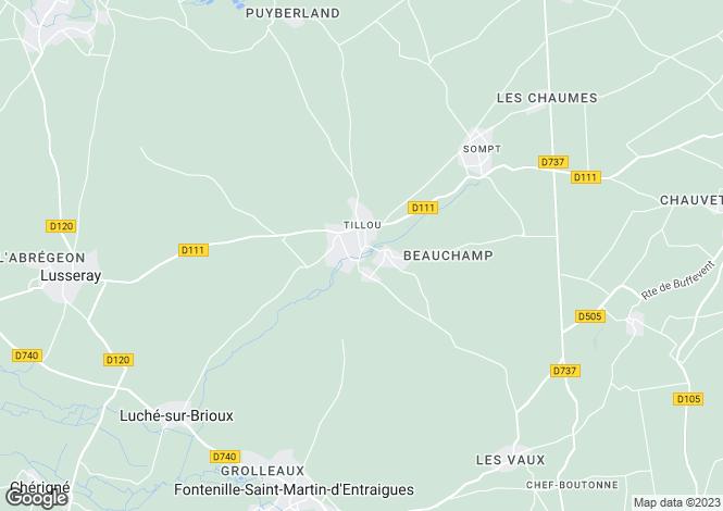 Map for Tillou, Deux-Sèvres, 79110, France