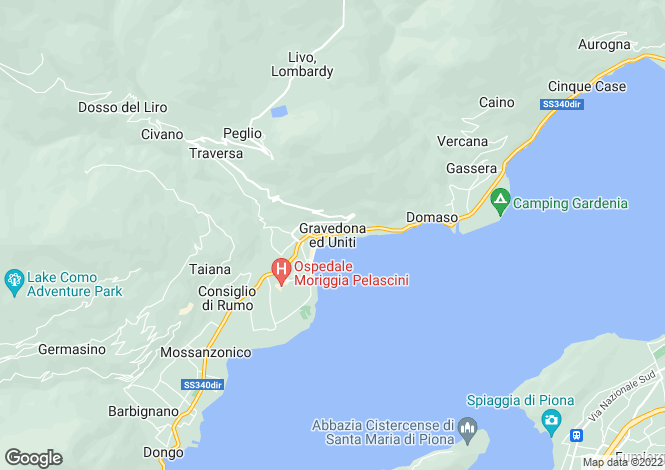 Map for Lombardy, Como, Gravedona