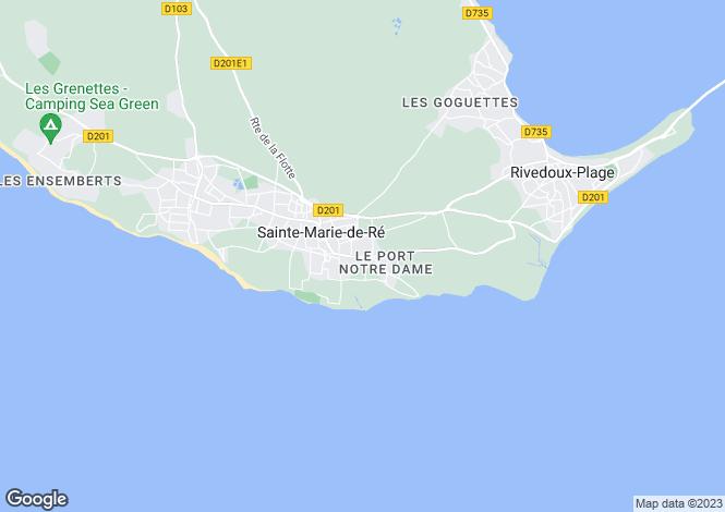 Map for Poitou-Charentes, Charente-Maritime, Ste-Marie-de-Ré