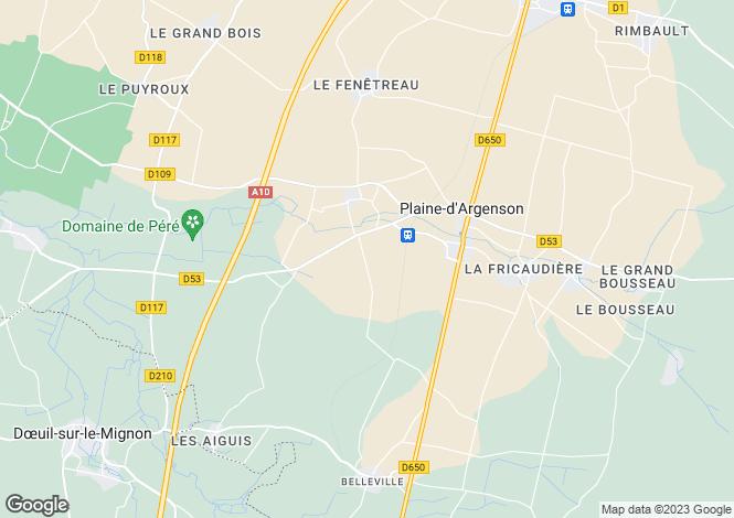 Map for Poitou-Charentes, Deux-Sèvres, Prissé-la-Charrière