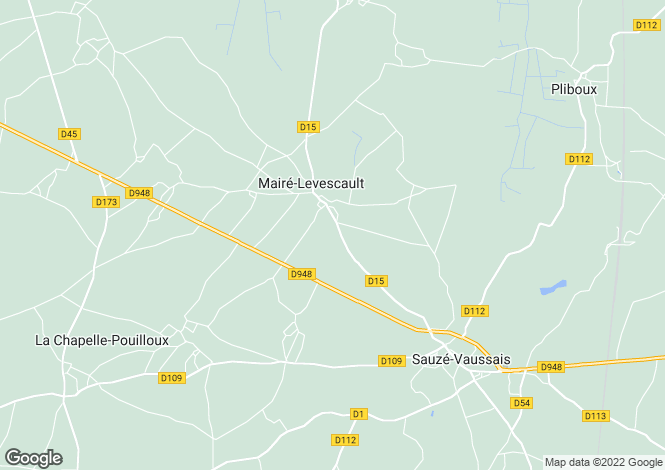 Map for maire-levescault, Deux-Sèvres, France