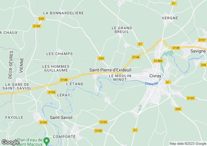Map for st-pierre-d-exideuil, Vienne, France