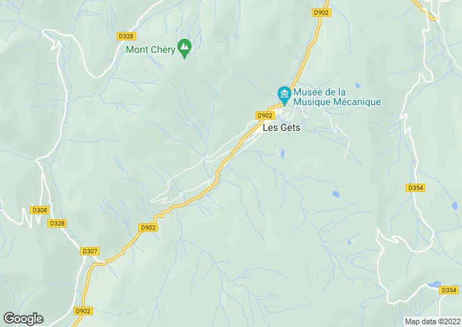 Map for Les Gets, Haute-Savoie, Rhone Alps