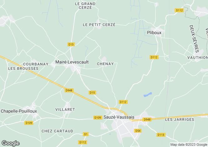 Map for Poitou-Charentes, Deux-Sèvres