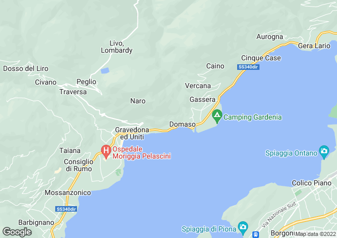 Map for Lombardy, Como, Domaso