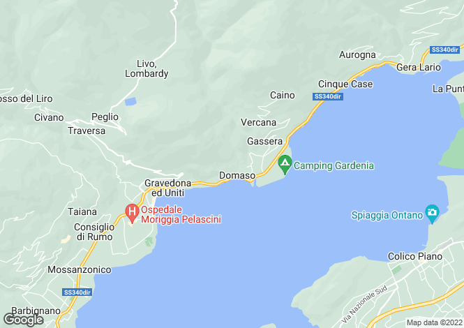 Map for Elegant Villa, Domaso, Lake Como, Italy