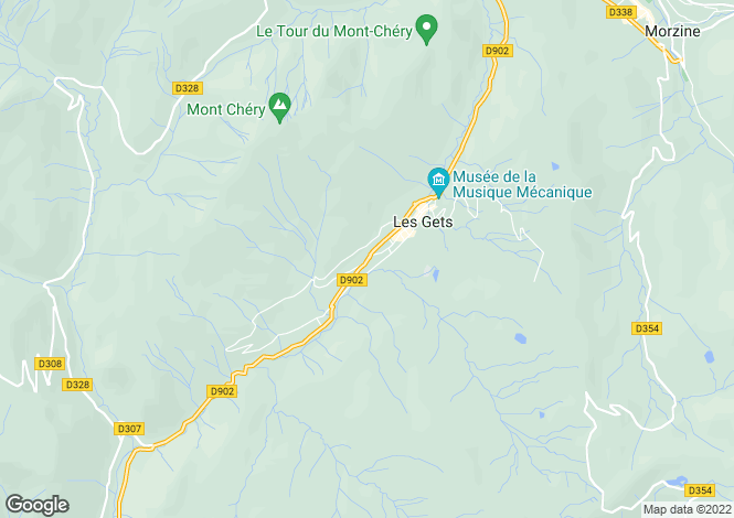 Map for Rhone Alps, Haute-Savoie, Les Gets