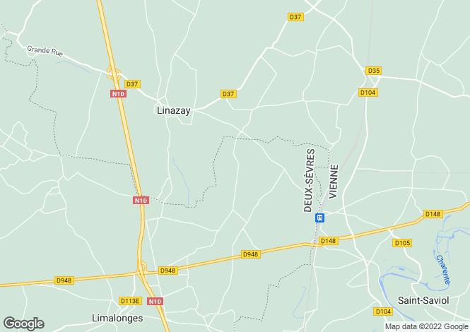 Map for Sauze-Vaussais, Poitou-Charentes, 79190, France
