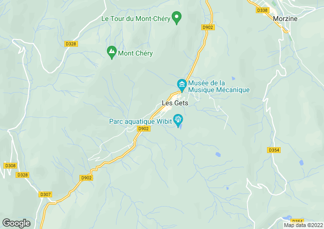 Map for , Les Gets