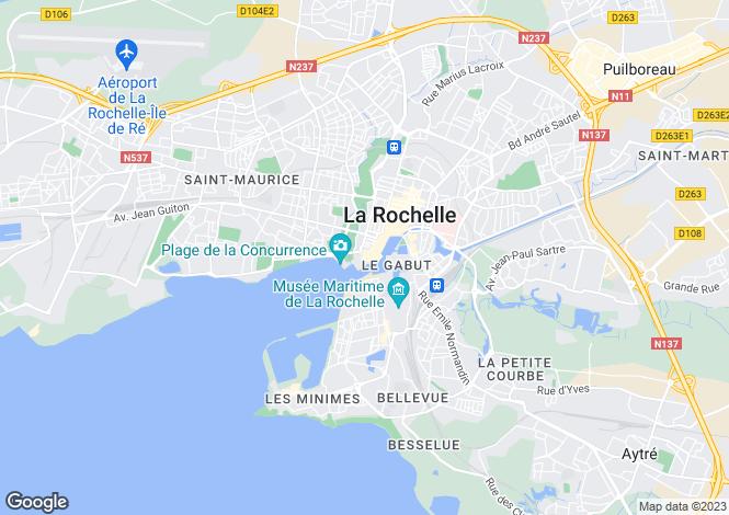 Map for La Rochelle, Charente-Maritime, Poitou-Charentes