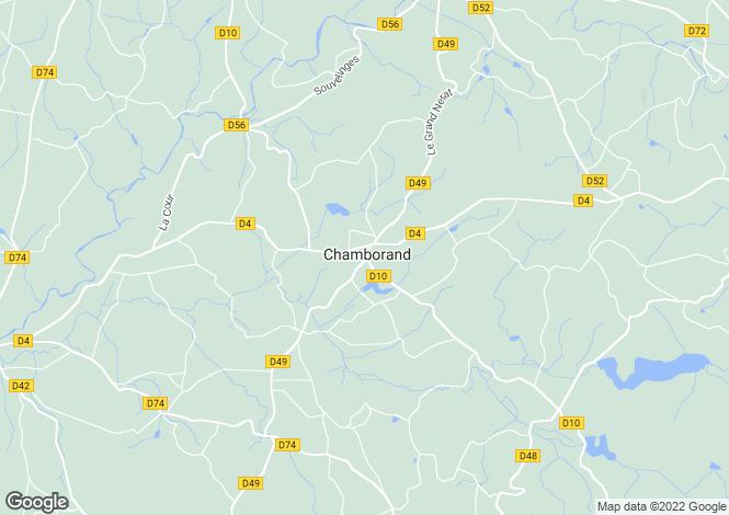 Map for chamborand, Creuse, France