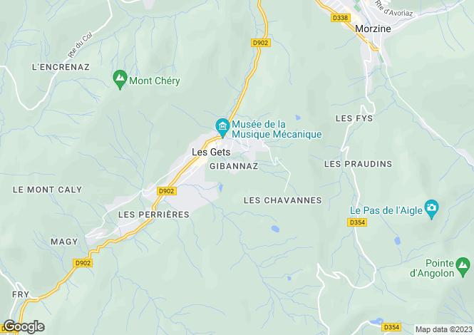 Map for Gibannaz, Les Gets
