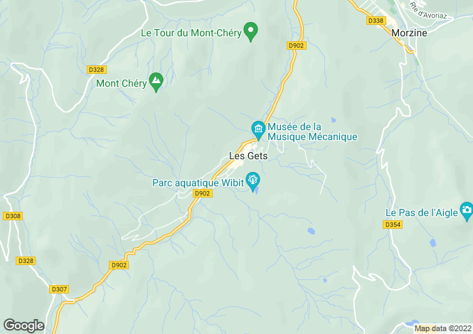 Map for Les Gets, Haute Savoie, France