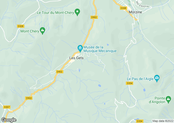 Map for Les Gets - Exceptional Chalet, Les Gets