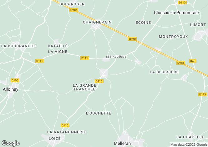 Map for Allionay, Deux-Sèvres, 79110, France