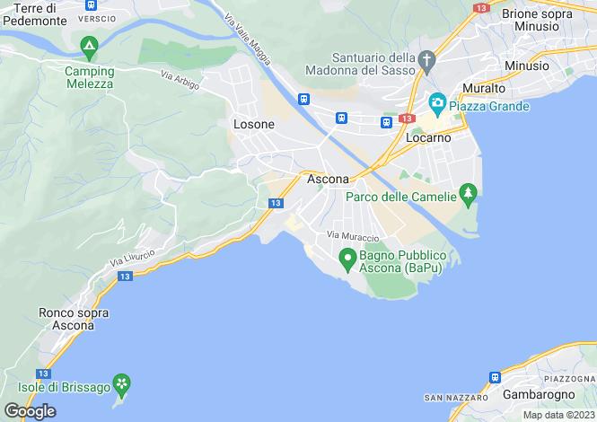 Map for Ticino, Ascona