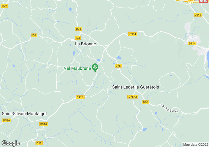 Map for Guéret, Creuse, Limousin