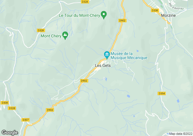 Map for Ambre Blanche, Les Gets, France