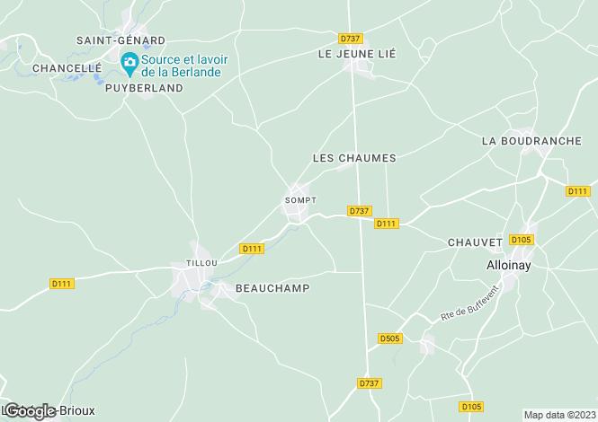 Map for Sompt, Deux-Sèvres, 79110, France