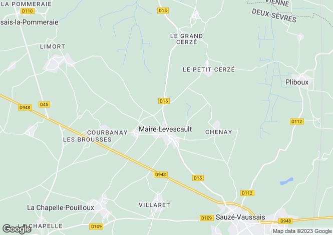Map for Sauze Vaussais, Poitou-Charentes, 79190, France