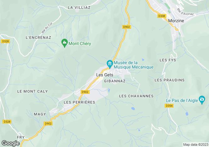 Map for Les Gets, Haute Savoie, France, 74260