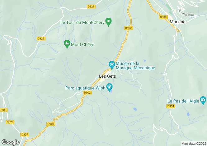 Map for Les Gets, Haute-Savoie, Rhone Alps