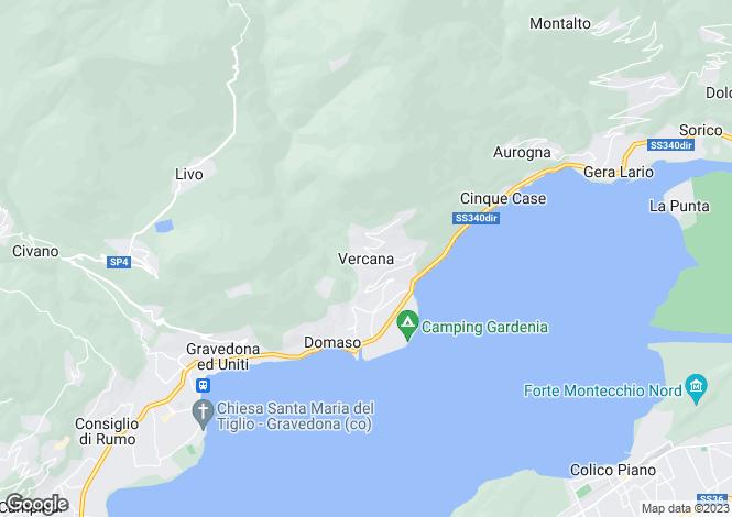 Map for Lombardy, Como, Vercana