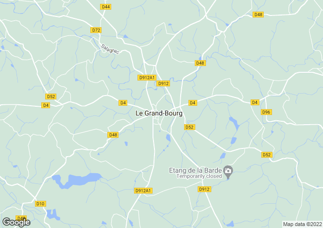 Map for Le Grand-Bourg, Creuse, Limousin