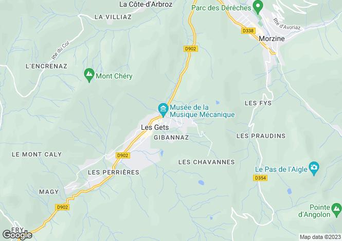 Map for Chalet Vinson, Les Gets, France