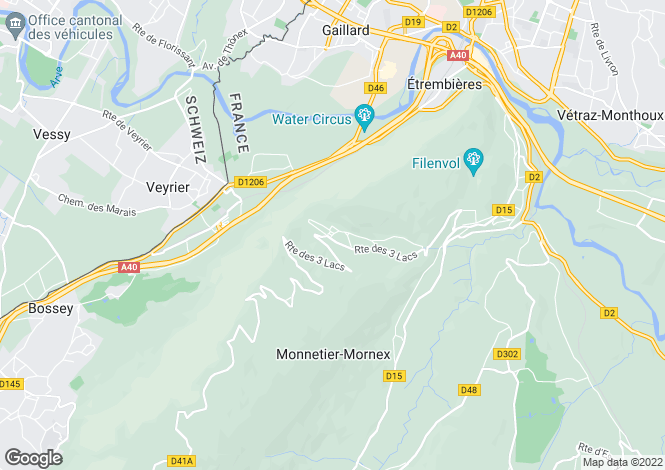 Map for Monnetier Mornex,France