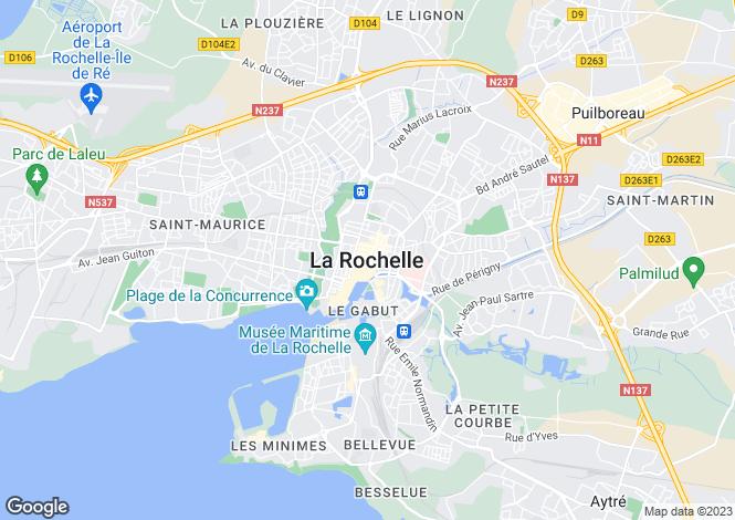Map for Proche / Near La Rochelle, Charente Maritime