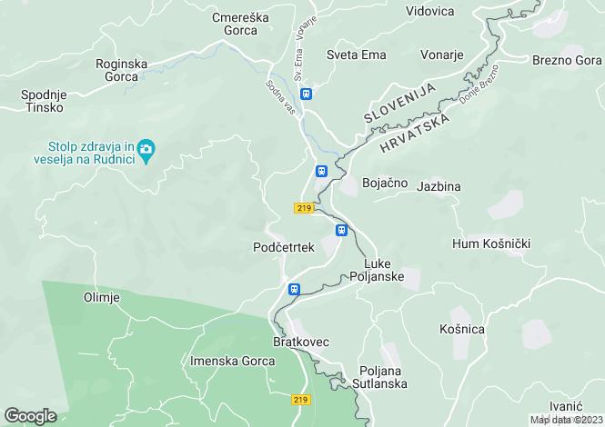 Map for Smarje pri Jelsah, Podcetrtek